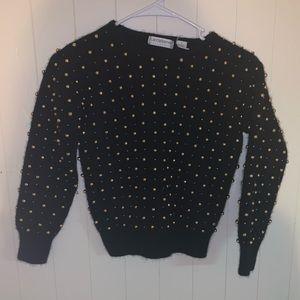 Vintage Liz Claiborne Beaded Sweater